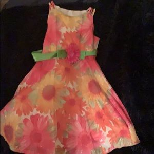 Mixed floral springy toddler dress